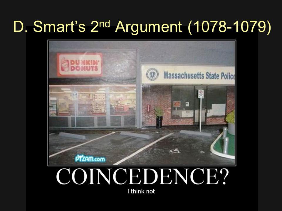 D. Smart's 2 nd Argument (1078-1079)