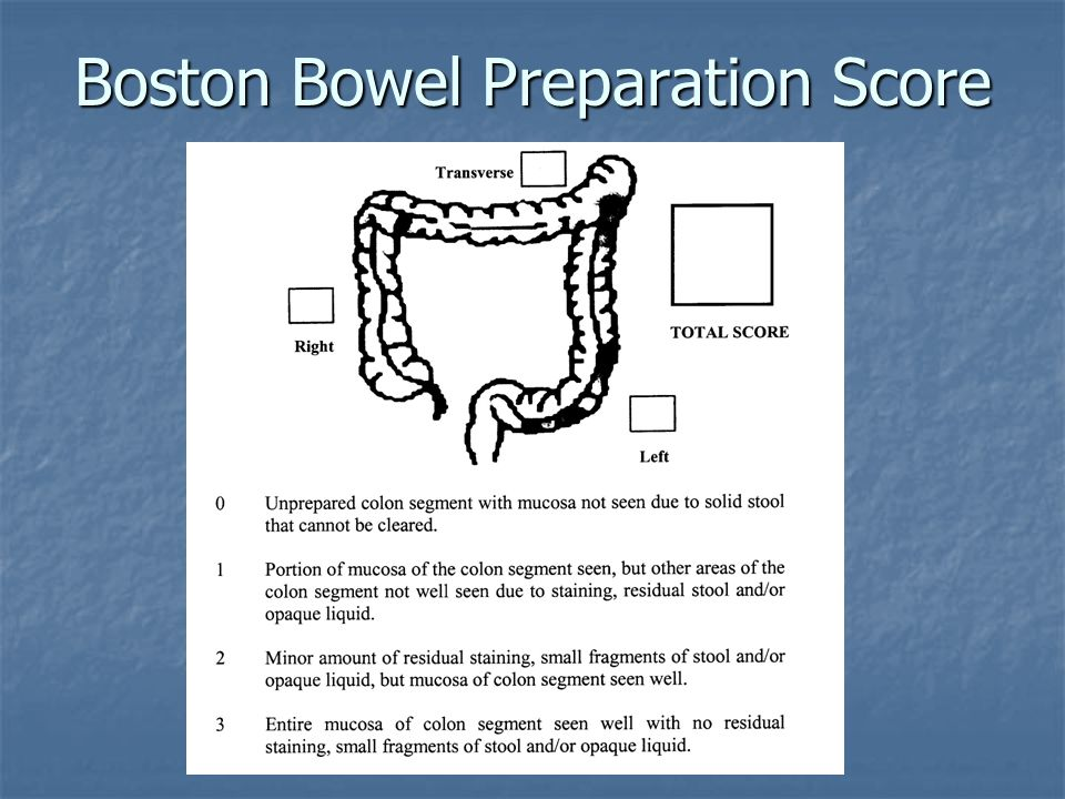 Boston Bowel Preparation Score