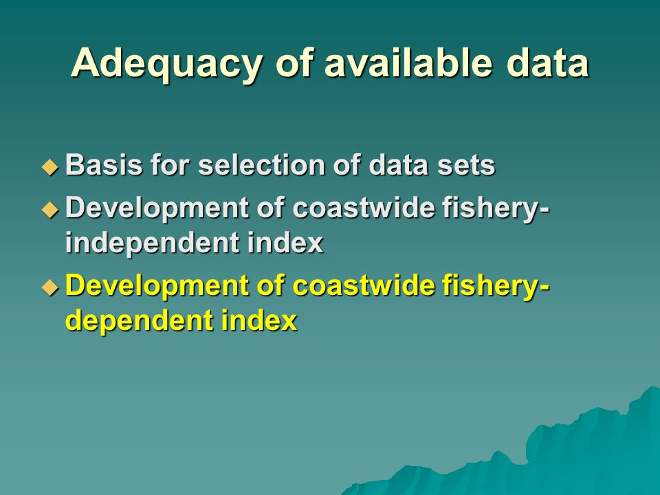 Fishery-dependent index
