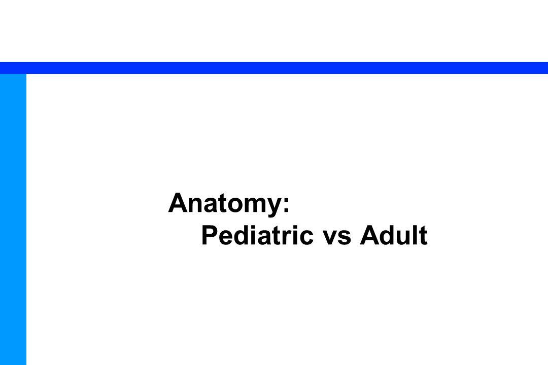 29 Anatomy: Pediatric vs Adult