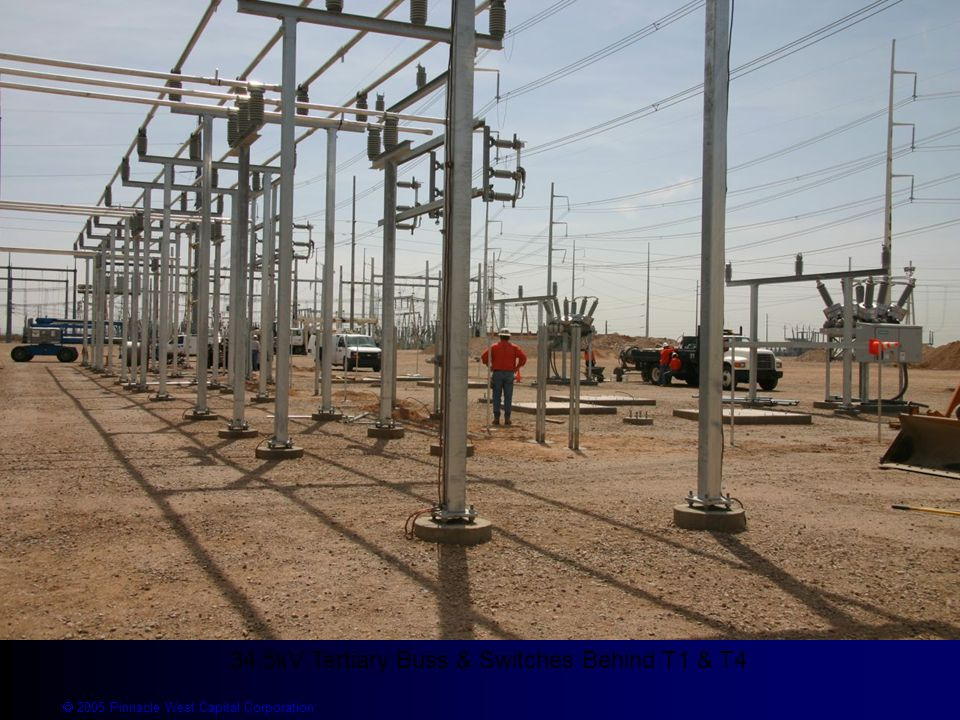  2005 Pinnacle West Capital Corporation 34.5kV Tertiary Buss & Switches Behind T1 & T4