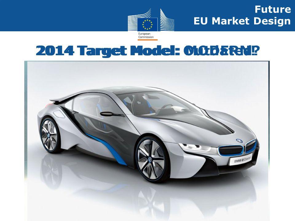 Energy 2014 Target Model: Outdated? Future EU Market Design 2014 Target Model: MODERN!