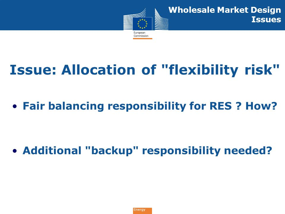 Energy Fair balancing responsibility for RES ? How? Additional