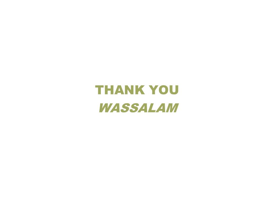 THANK YOU WASSALAM