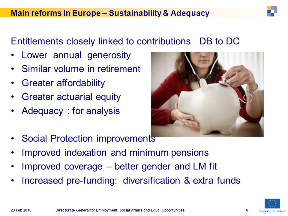 European Commission 23 Feb 2010Directorate-General for Employment, Social Affairs and Equal Opportunities