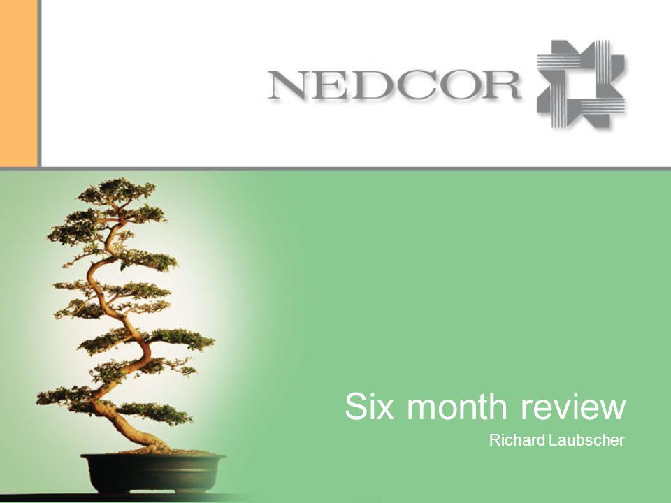Six month review Richard Laubscher