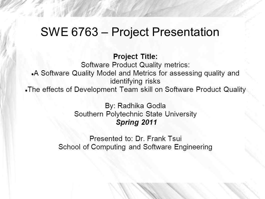 This paper will look at a two perspectives on software quality.