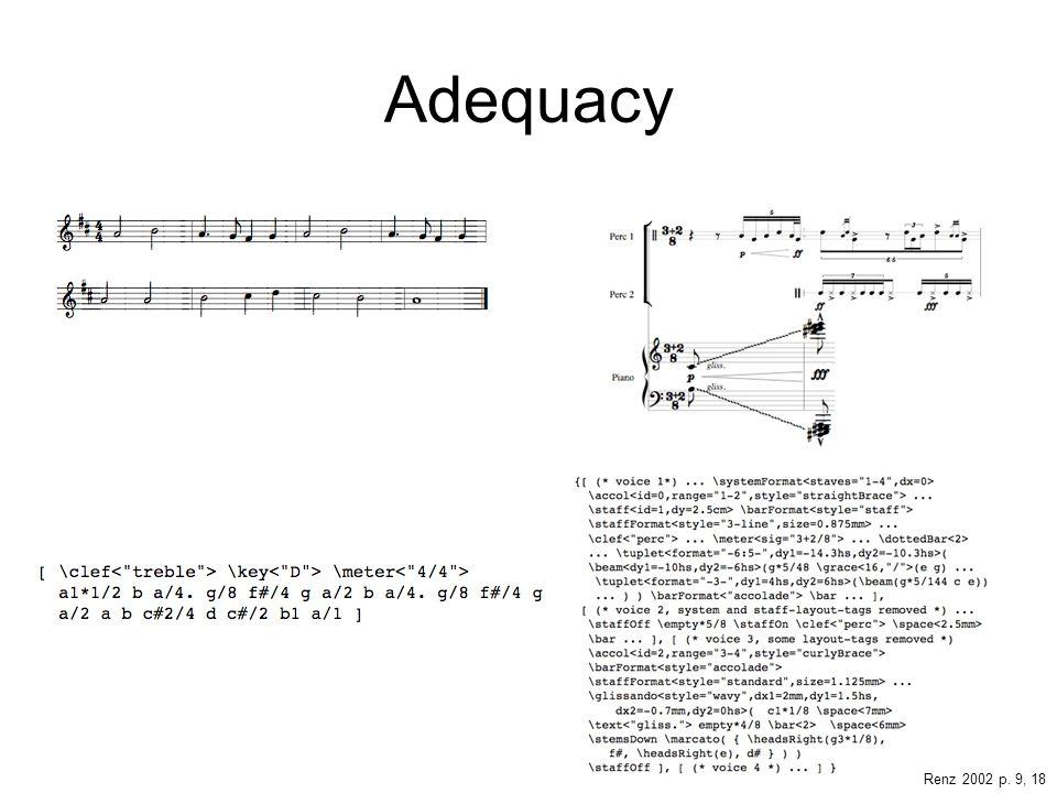 Adequacy Renz 2002 p. 9, 18