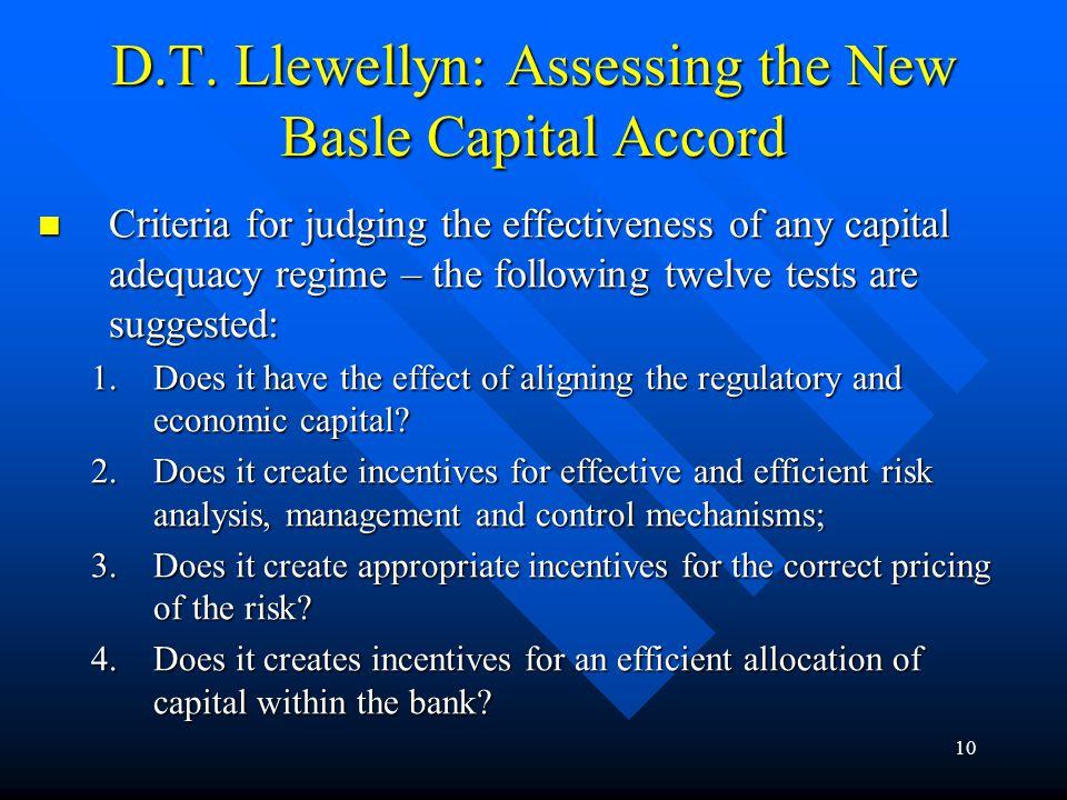 9 V. Comprehensive Risk Management on the Banking Industry Level Comprehensive versus narrow scope of banking; Comprehensive versus narrow scope of ba
