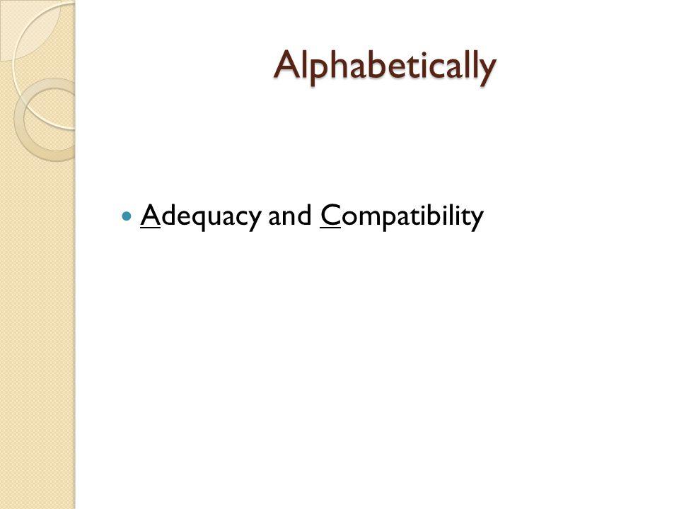 Alphabetically