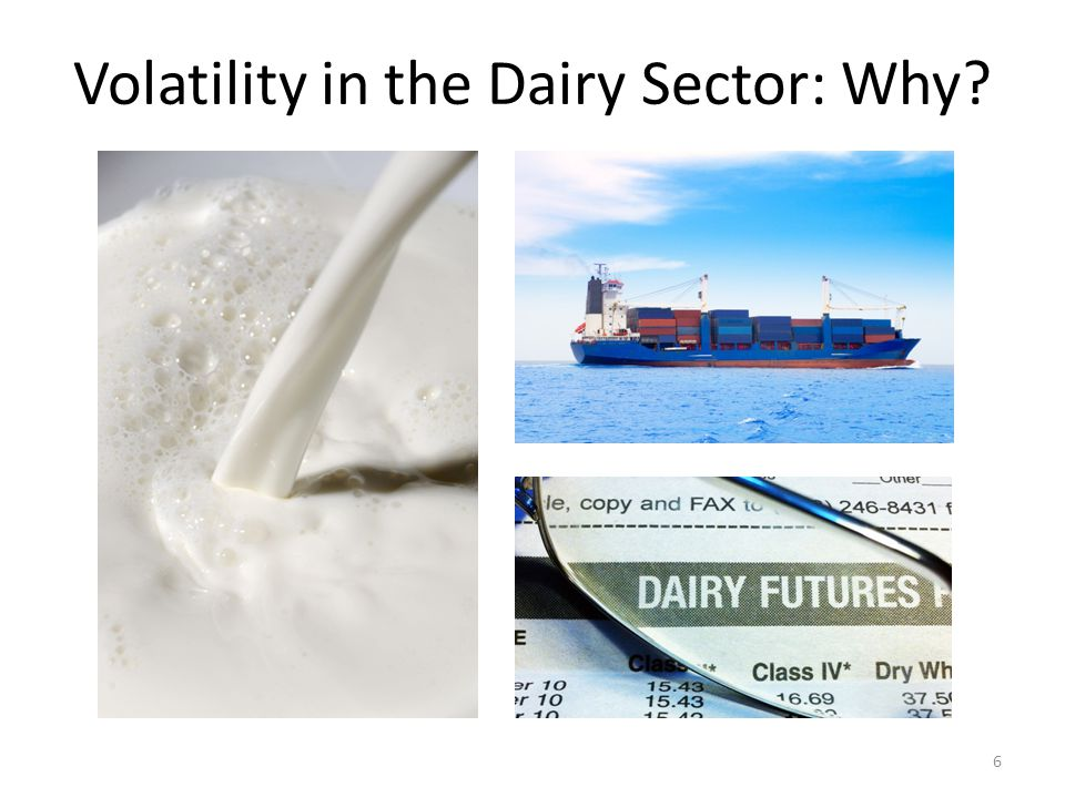 Volatility in the Dairy Sector: Why 6