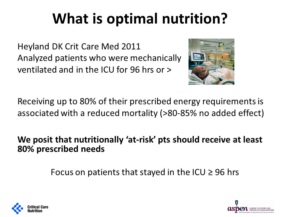 What is optimal nutrition.