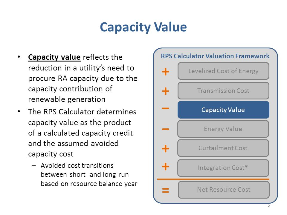 Context Pursuant to legislation, Resource Adequacy has adopted Effective Load Carrying Capability to determine the contribution of variable renewables towards the system's reserve margin – Goal of resource adequacy program is to determine the total ELCC of the portfolio of existing resources and to allocate that capacity to specific plants To align with RA, other proceedings at the Commission could use ELCC to measure impacts of renewables on reliability: – LTPP: how much capacity will renewables provide, in aggregate, towards the utilities' capacity needs over the next twenty years.