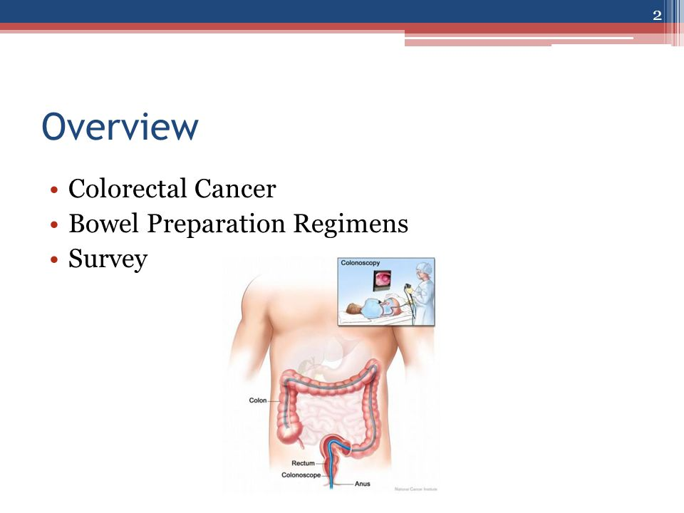 Overview Colorectal Cancer Bowel Preparation Regimens Survey 2