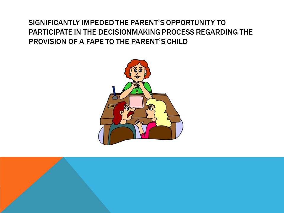 SIGNIFICANTLY IMPEDED THE PARENT'S OPPORTUNITY TO PARTICIPATE IN THE DECISIONMAKING PROCESS REGARDING THE PROVISION OF A FAPE TO THE PARENT'S CHILD