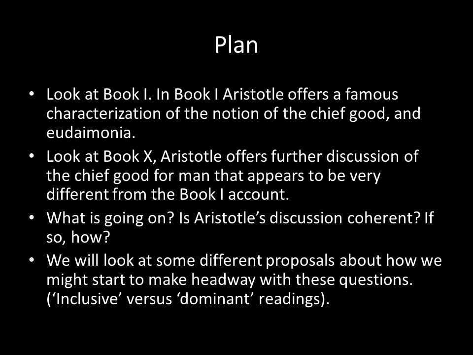 Plan Look at Book I.