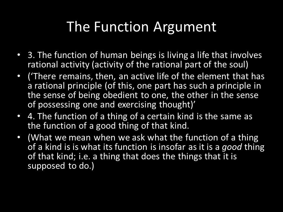 The Function Argument 3.