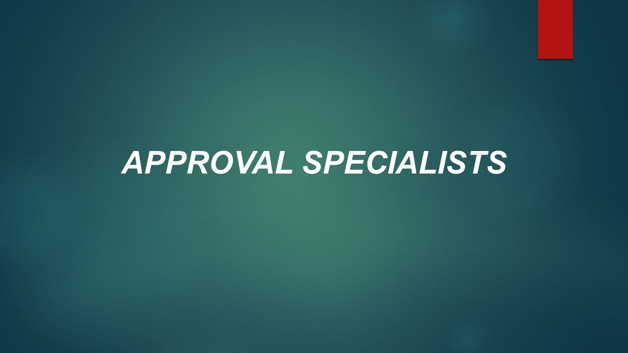 APPROVAL SPECIALISTS
