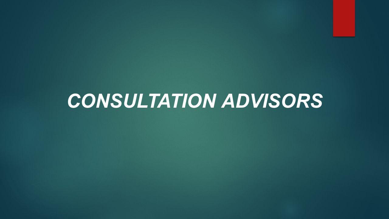 CONSULTATION ADVISORS