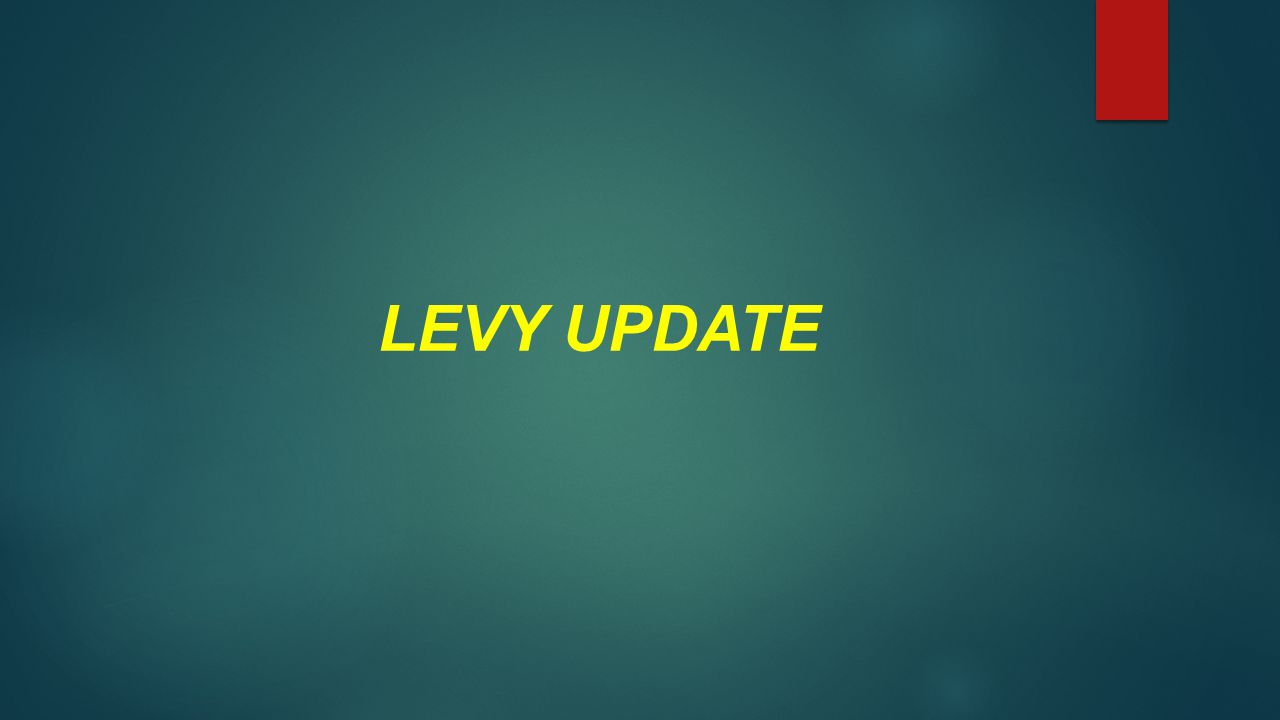 LEVY UPDATE