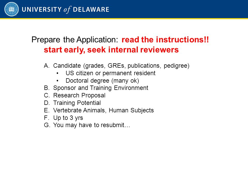 Prepare the Application: read the instructions!.