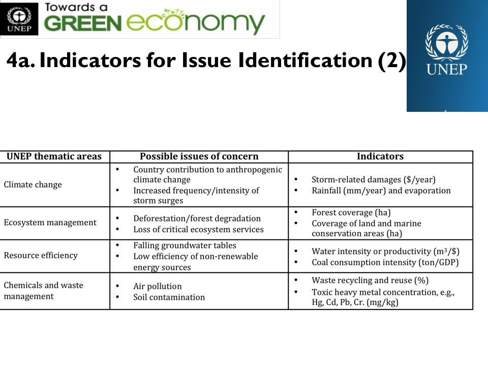 4a. Indicators for Issue Identification (2)