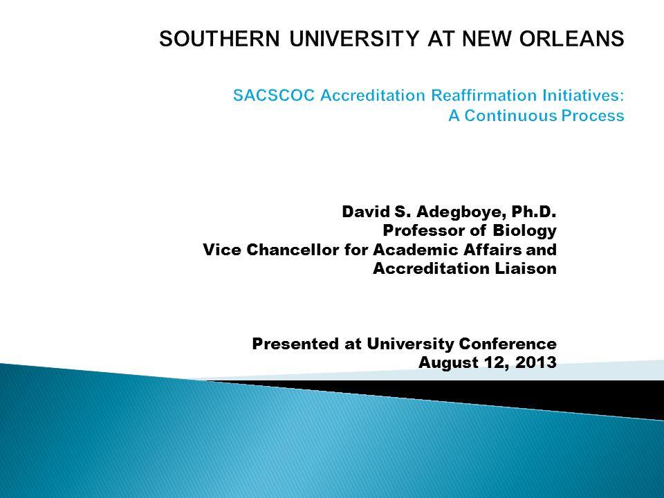 David S. Adegboye, Ph.D.