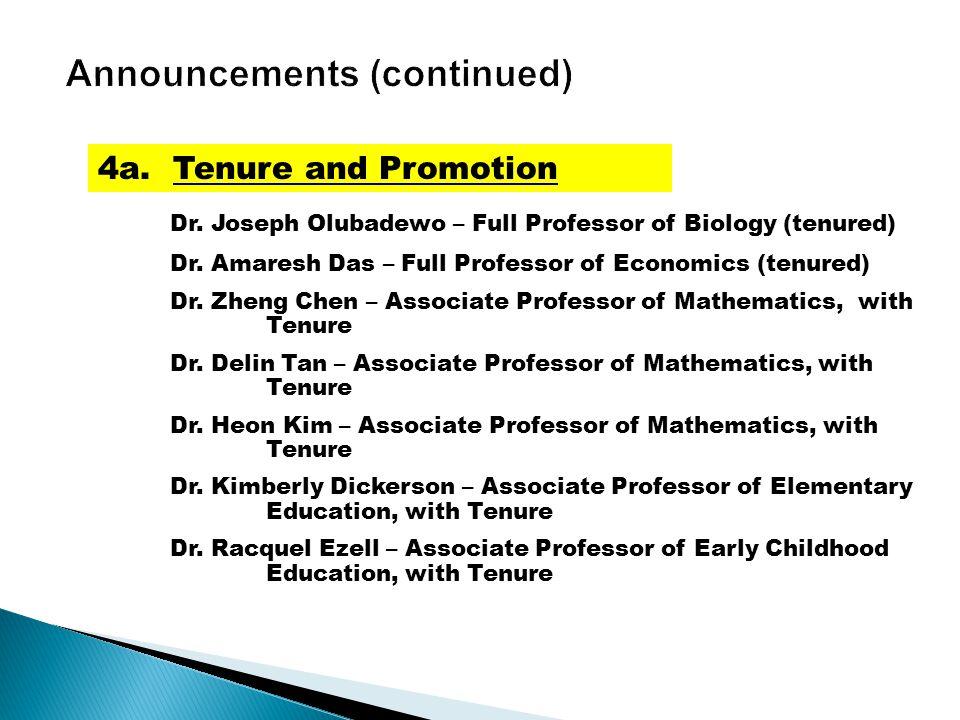 Dr. Joseph Olubadewo – Full Professor of Biology (tenured) Dr.