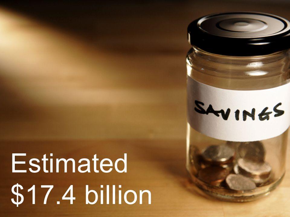 Estimated $17.4 billion