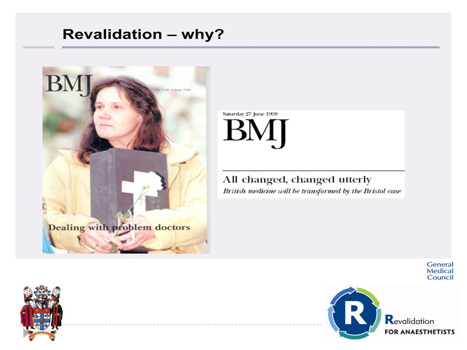 Revalidation: Why