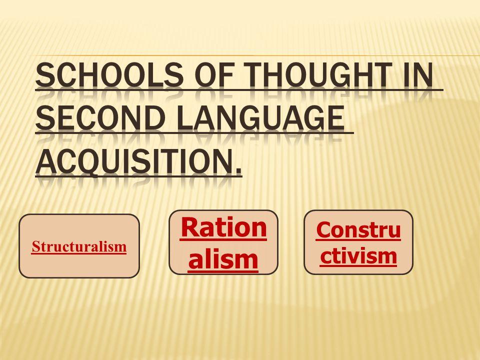 Constru ctivism Ration alism Structuralism
