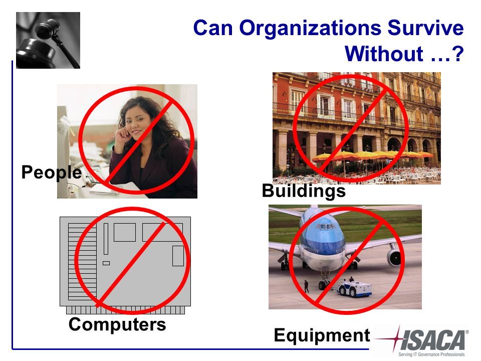 Can Organizations Survive Without … Equipment Computers People Buildings