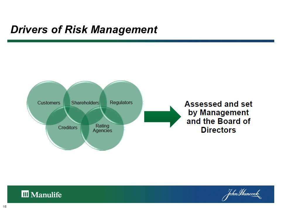 Drivers of Risk Management 15