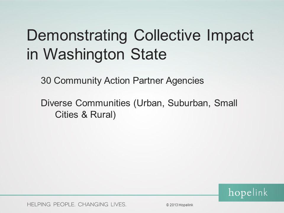 Hopelink Model Washington State Community Action Partnership