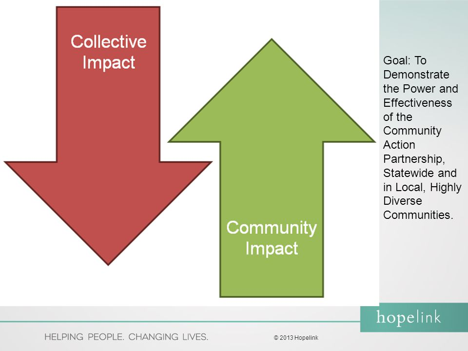 Goal: To Demonstrate the Power and Effectiveness of the Community Action Partnership, Statewide and in Local, Highly Diverse Communities.