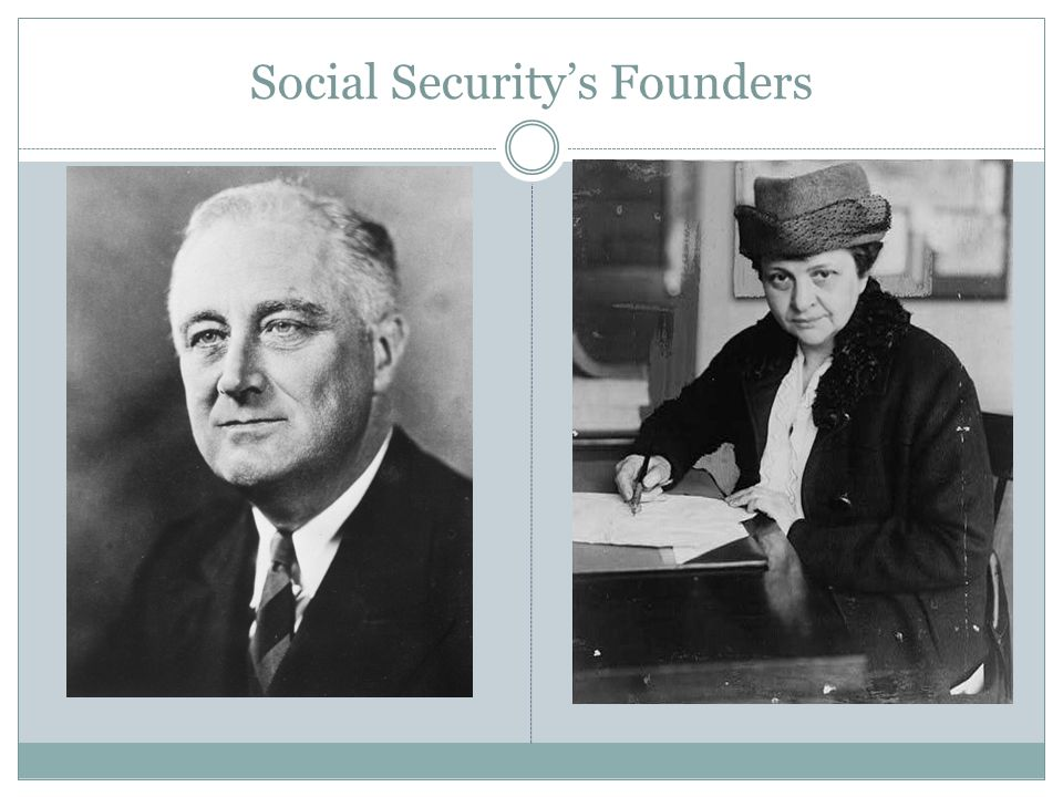 Social Security's Founders