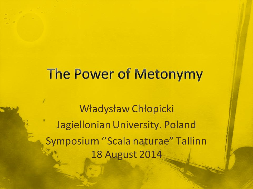 Władysław Chłopicki Jagiellonian University.