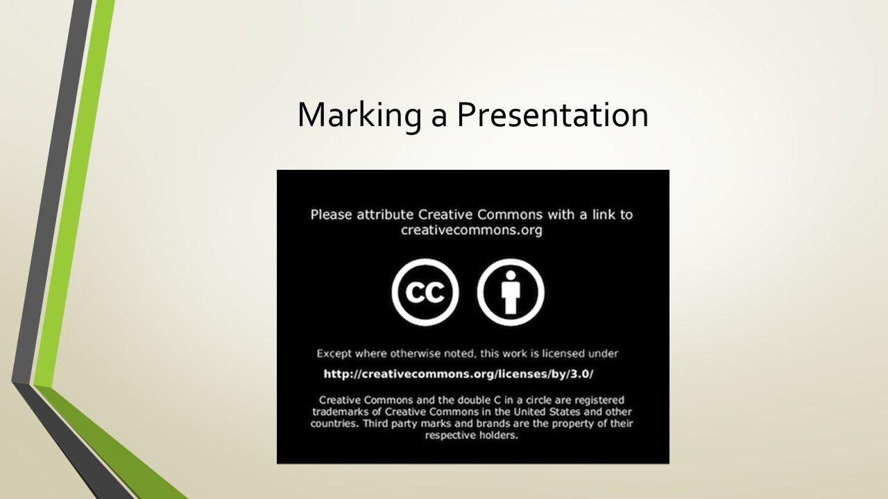 Marking a Presentation