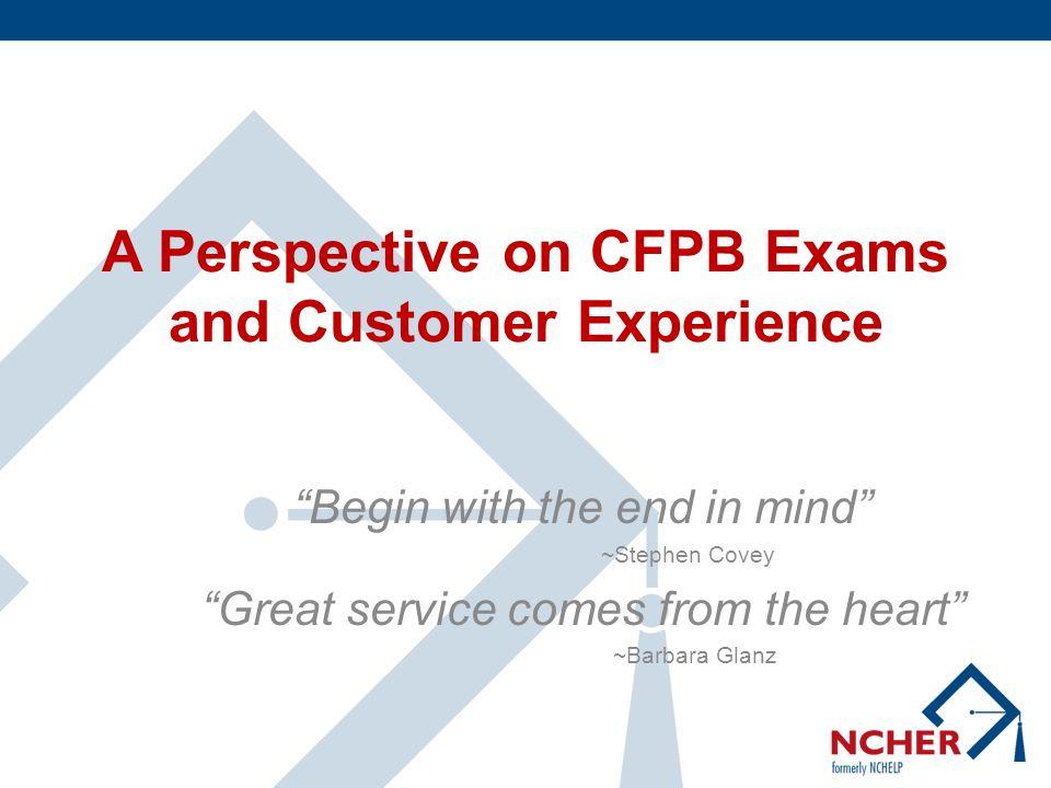 Agenda CFPB Goals/Outcomes Exam Modules Emphasis on Fair Lending Process Complaints Lessons Learned