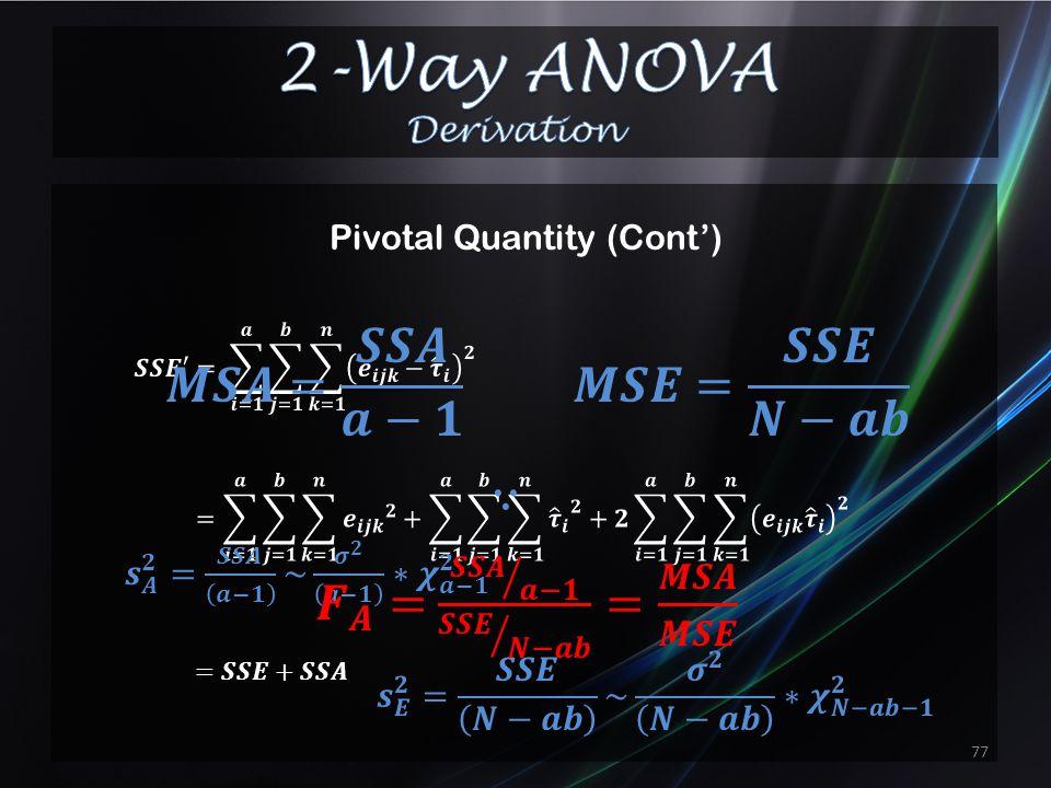Pivotal Quantity 76