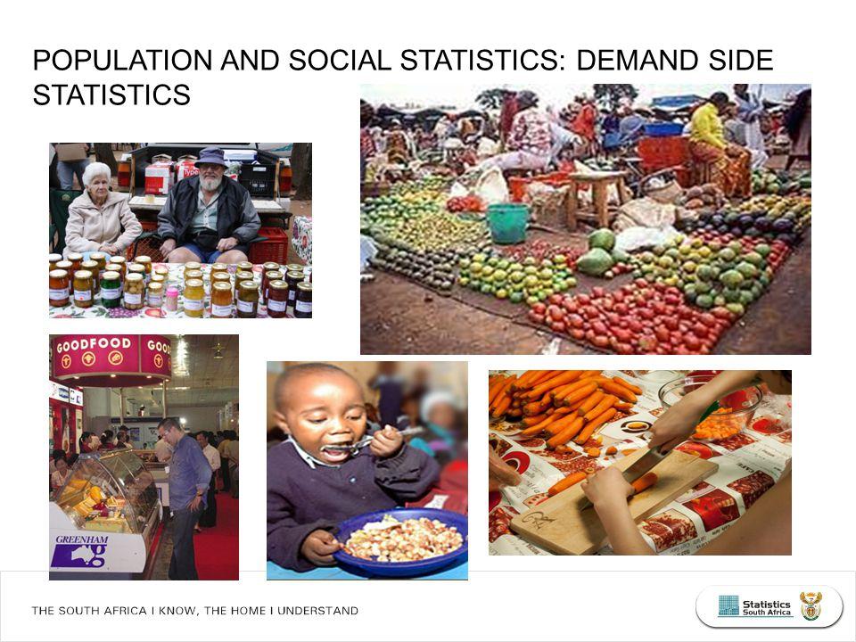 POPULATION AND SOCIAL STATISTICS: DEMAND SIDE STATISTICS
