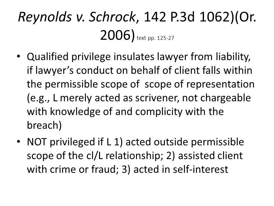 Reynolds v. Schrock, 142 P.3d 1062)(Or. 2006) text pp.