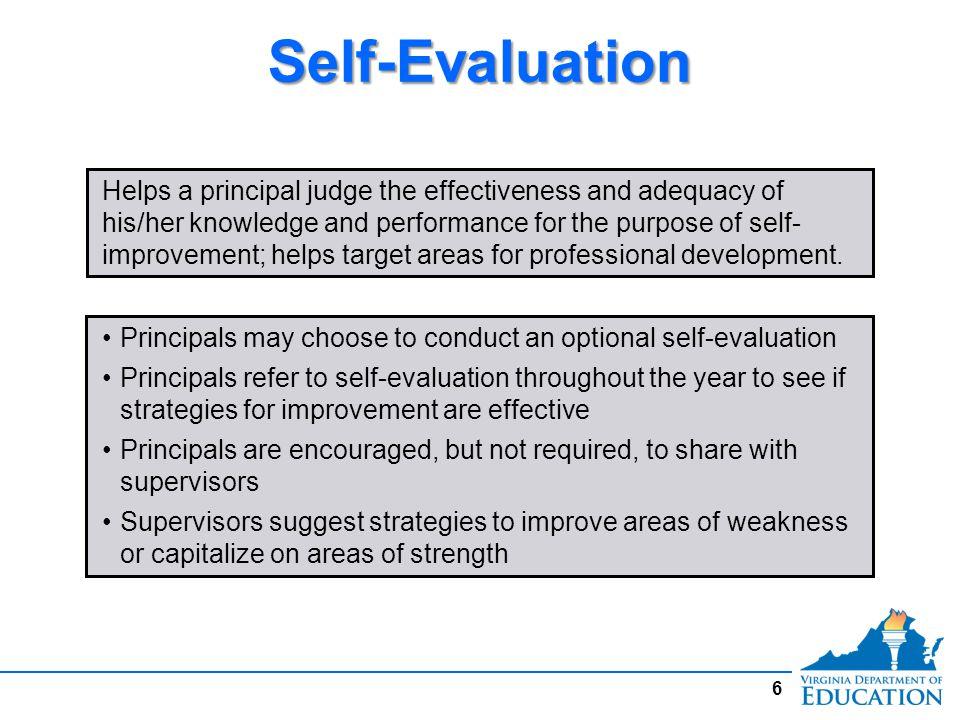 Self-Evaluation Form 1.