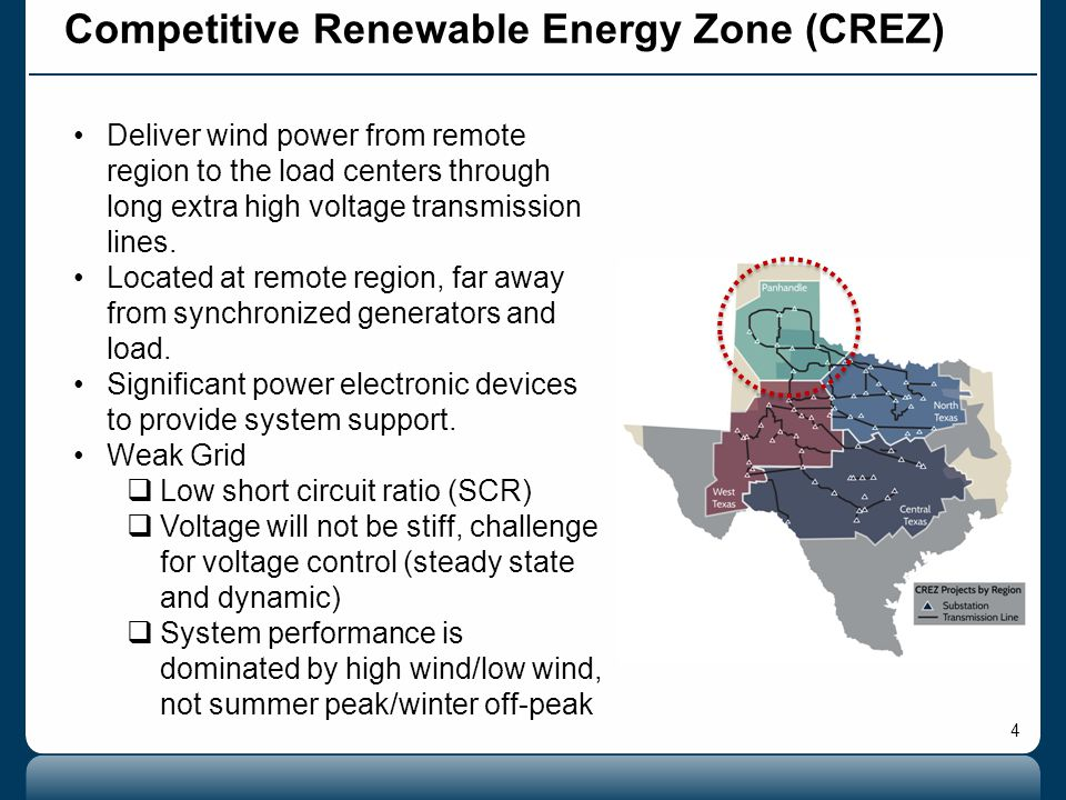 4 Deliver wind power from remote region to the load centers through long extra high voltage transmission lines.