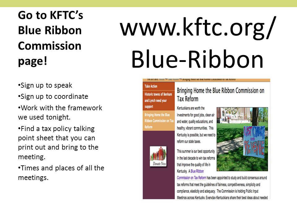 Go to KFTC's Blue Ribbon Commission page.