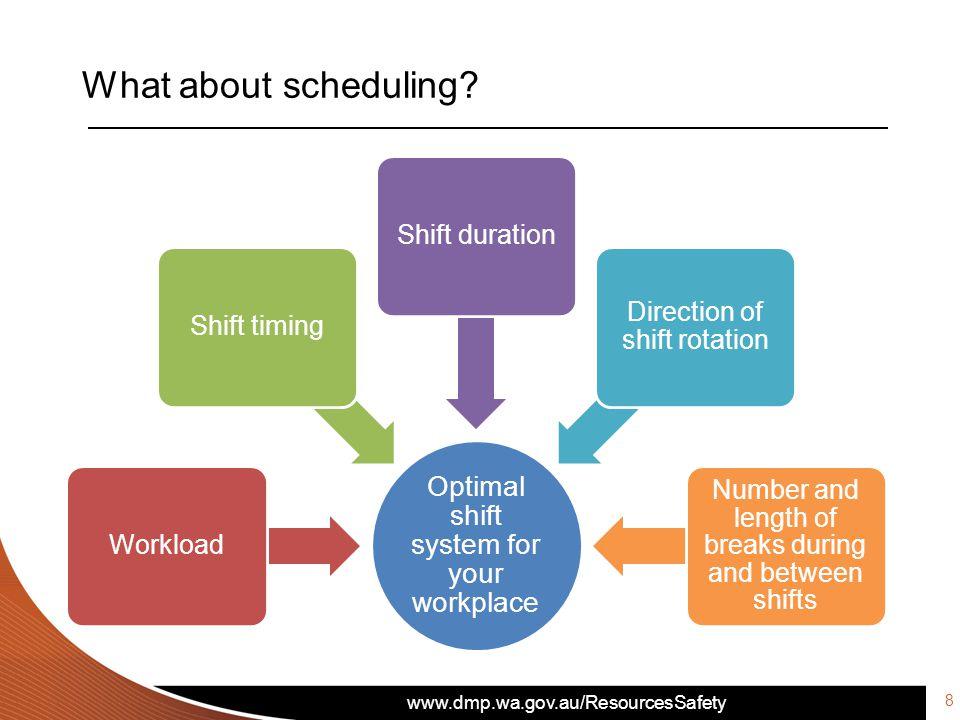 www.dmp.wa.gov.au/ResourcesSafety What about scheduling.