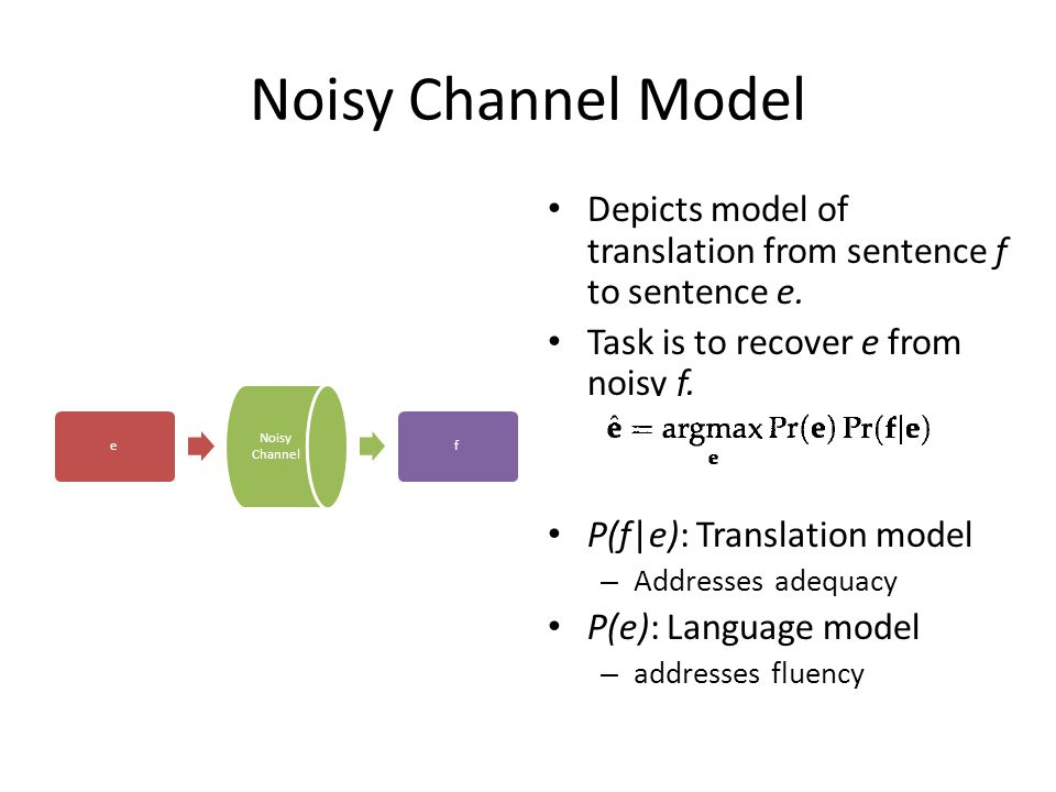 Three Aspects Modelling – Propose a probabilistic model for sentence translation Training – Learn the model parameters from data Decoding – Given a new sentence, use the learnt model to translate the input sentence IBM Models 1 to 5 [1] define various generative models, and their training procedures.