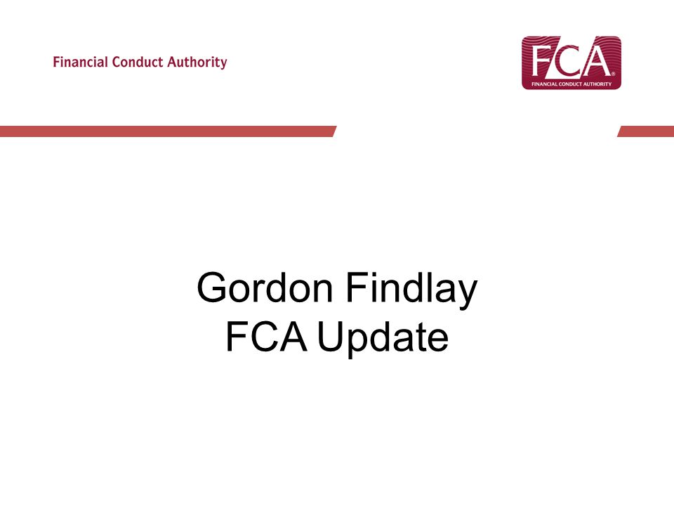 Gordon Findlay FCA Update