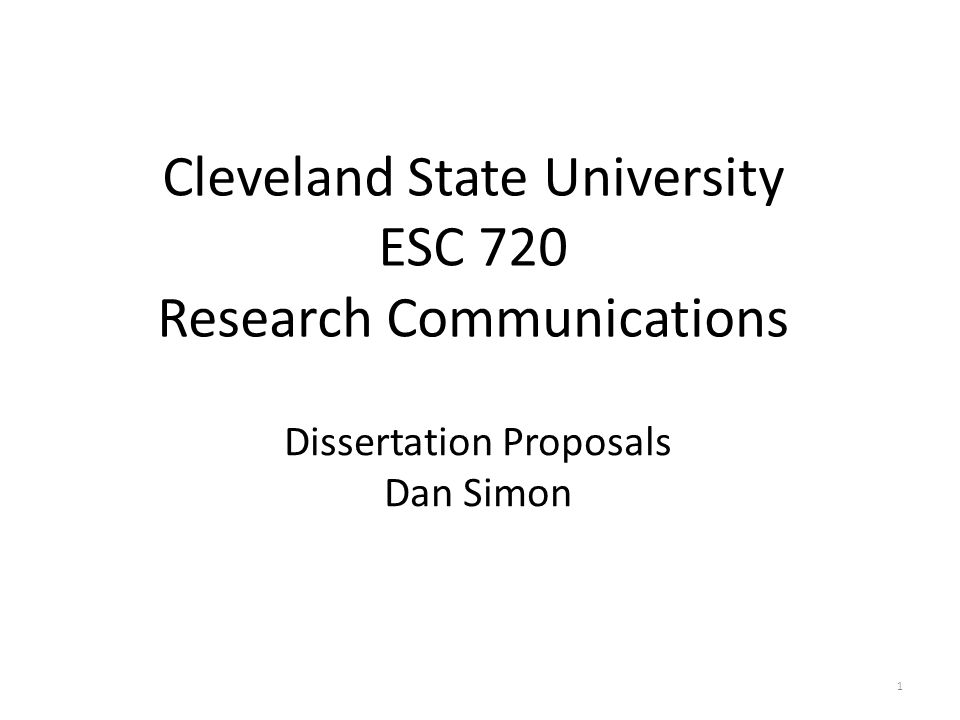 Outline 1.The Purpose of the Proposal 2.The Dissertation Committee 3.Candidacy Exam Assessment 4.Expectations 5.Dissertation Proposal Structure 6.Questions and Answers 2