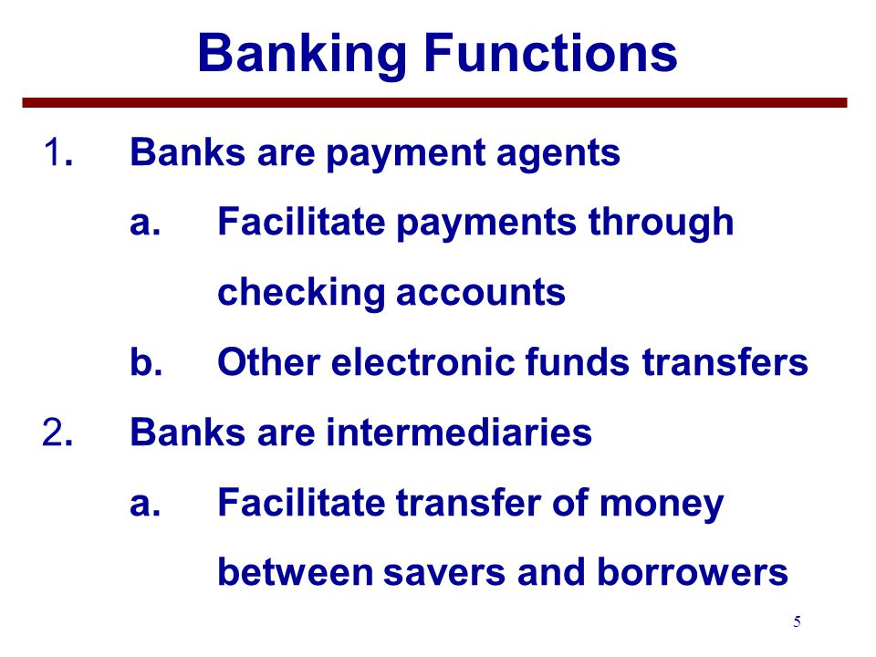 6 OUTLINE 1.Banking Functions 2.Banking History 3.